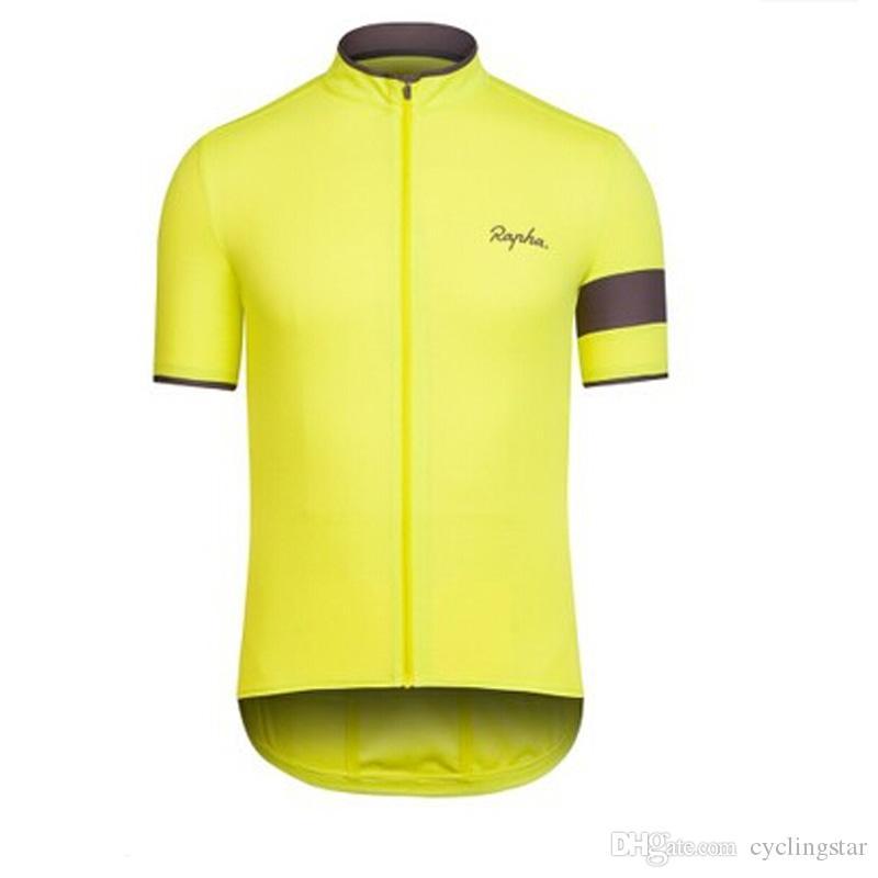 New Maglie ciclismo Rapha traspirante maniche corte estate Quick Dry Ciclismo Camicie mtb bicicletta Abbigliamento Bike Wear ropa ciclismo E1802
