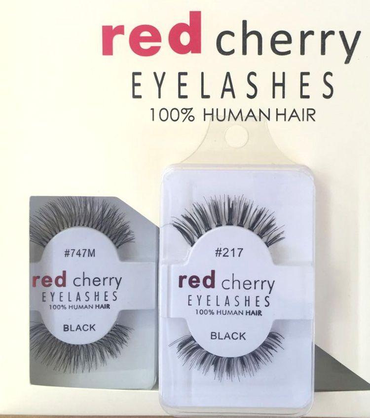 2017 hot Factory direct export red cherry handmade Natural false eyelashes Beauty Sale Makeup Long Fake Eye Lashes Free shining