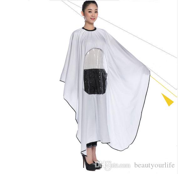 New Hairdressing Capes Hair Cutting Gown Barbers Cape Wrap Transparent Design Can see mobile phone can make your one color logo