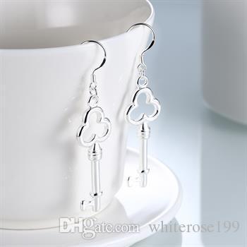 도매 - 최저 가격 크리스마스 선물 925 스털링 실버 패션 귀걸이 yE134