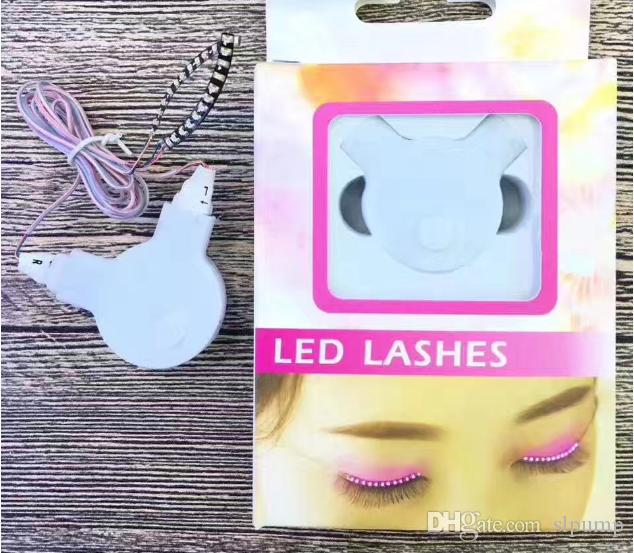 Interactive Halloween LED Strips False Eyelash Sticker 3d LED Lashes Eye Makeup Waterproof Light Fake Eyelashes christmas Nightclub party