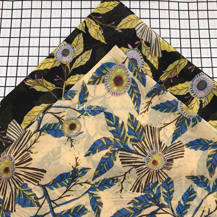 wholesale 2colour Jacquard chiffon flowers fabrics Wedding dresses, print satin floral tweed cheap-silk fabric stripe scrapbooking B717