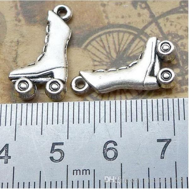 B1840 21 * 11mm pattini, accessori antichi gioielli in lega d'argento, fabbrica diretta 80 / bag 1,5 grammi