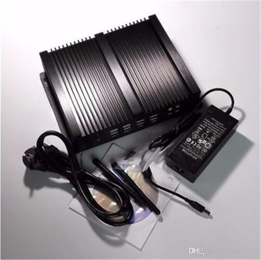 HYSTOU Fanless Mini PC i5 Rugged Aluminum Alloy case Intel Core i5 4300U Intel Gigabit Nics HDMI VGA 300M WiFi 8G 128G