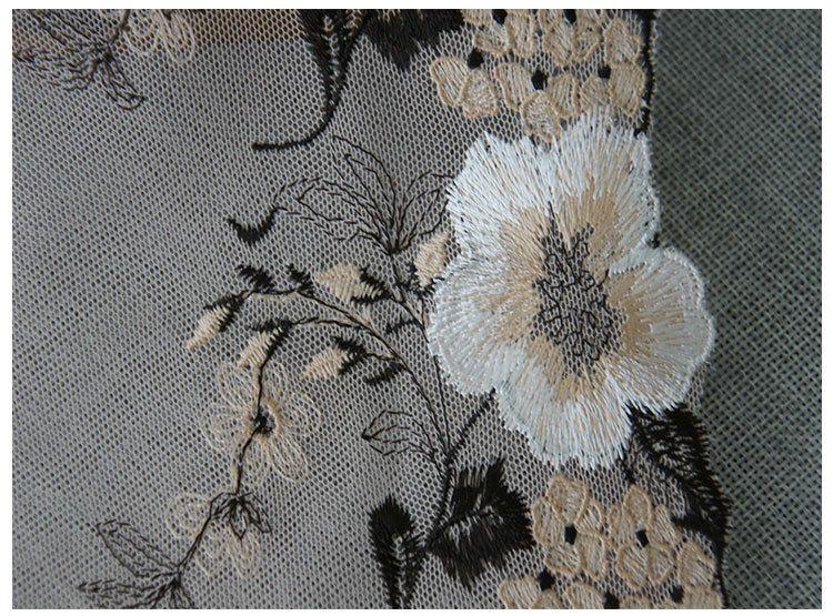 Волокна цветок кружевной отделкой вышивка швейные ткани ленты DIY одежды аксессуары 16 см ширина для женщин платье украшения