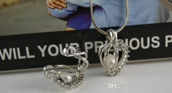 18KGP Pearl Cage Pendants Hollow Diamond Pearl Gem Beads Cage Oyster Lockets Pendants, DIY Jelwery Hign quality and