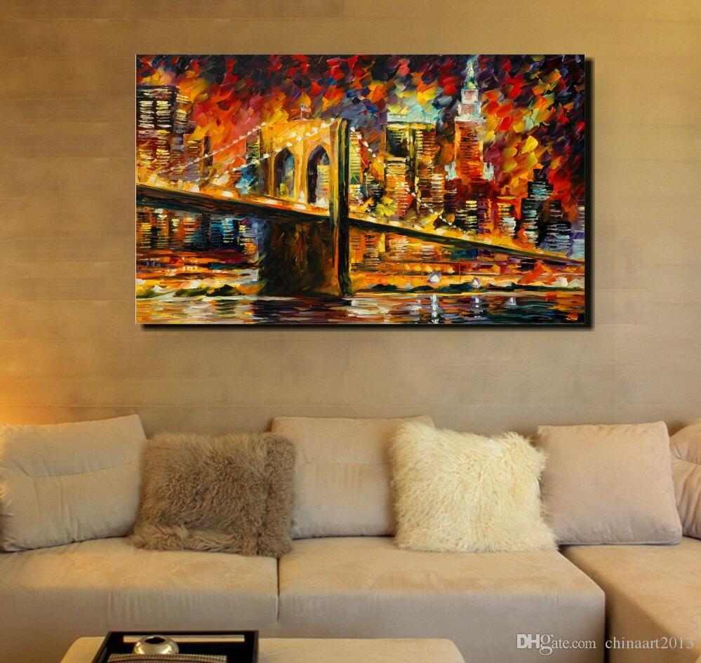 2018 100 hand painted canvas oil painting cities charming