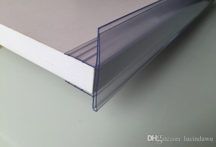 중간 나무 선반 채널 U 클립 선반 화자 레이블 홀더 가격 태그 라벨 카드 배너 프레임 13-17mm 두께의 보드에 대한 데이터 스트립