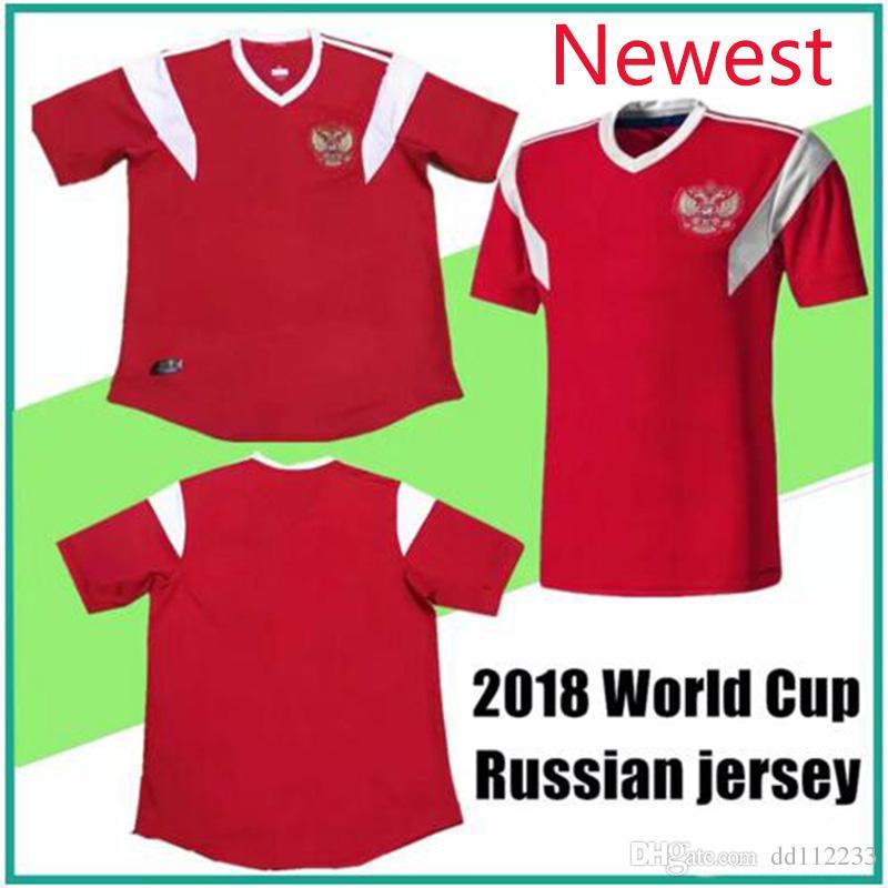 d61558a4d13 2019 Newest Russia 2018 World Cup Shirt 18 19 Russia National Team Home Red  Soccer Jersey Kokorin Dzyuba Smolov Football Shirts From Dd112233, ...