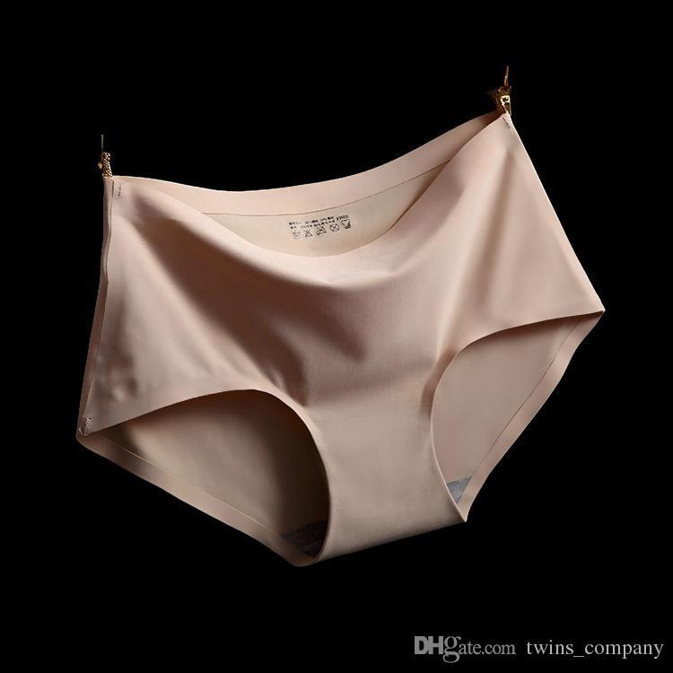 Hot Alta Qualidade Sexy Underwear Mulheres Calcinha Sem Costura Tanga Sexy Briefs Silk Calcinha Blankholding Conforto Calcinha