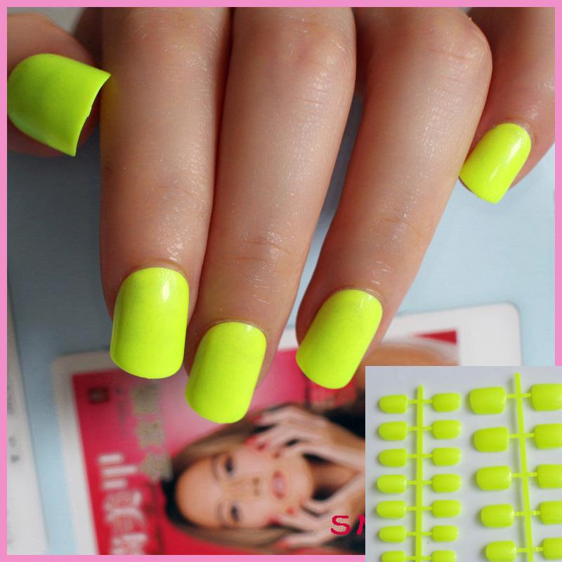 Wholesale Of Candy Manicure Finished Lovely Color False Nails Short ...