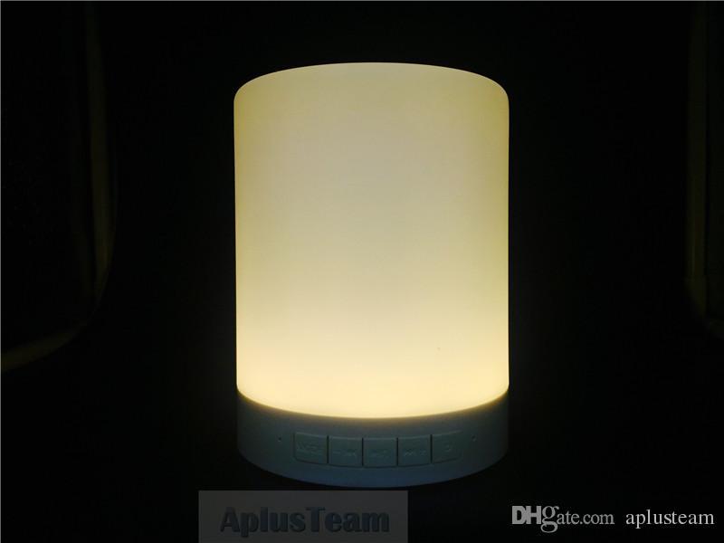 LED Dimmable Touch Sensor Lampe romantique Portable musique haut-parleur mains libres Smart Bluetooth sans fil Bluetooth Table de chevet Night Light Subwoofer