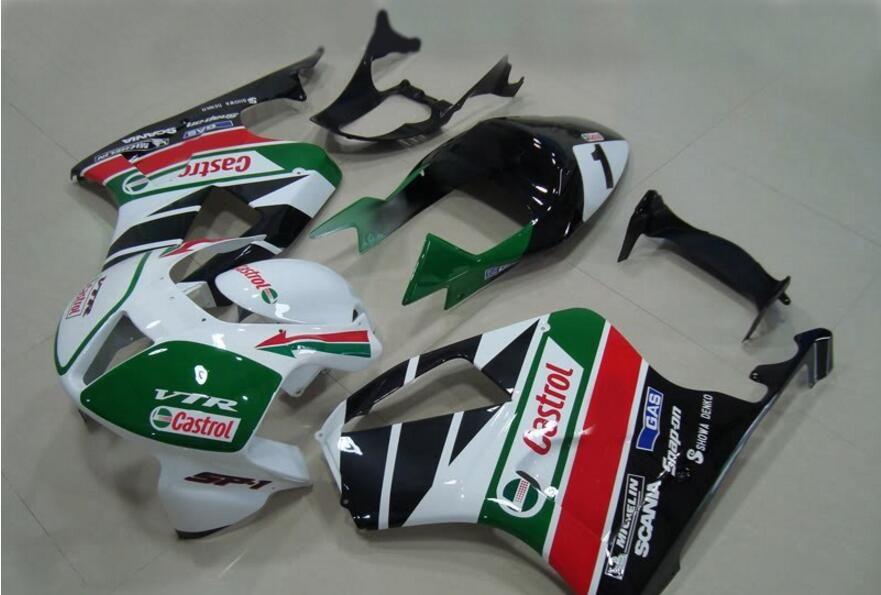 3 free gifts Fairings For Honda VTR1000 RC51 SP1 SP2 00 01 02 03 04 05 06 ABS Motorcycle Fairing Kit Bodywork White green AZ3