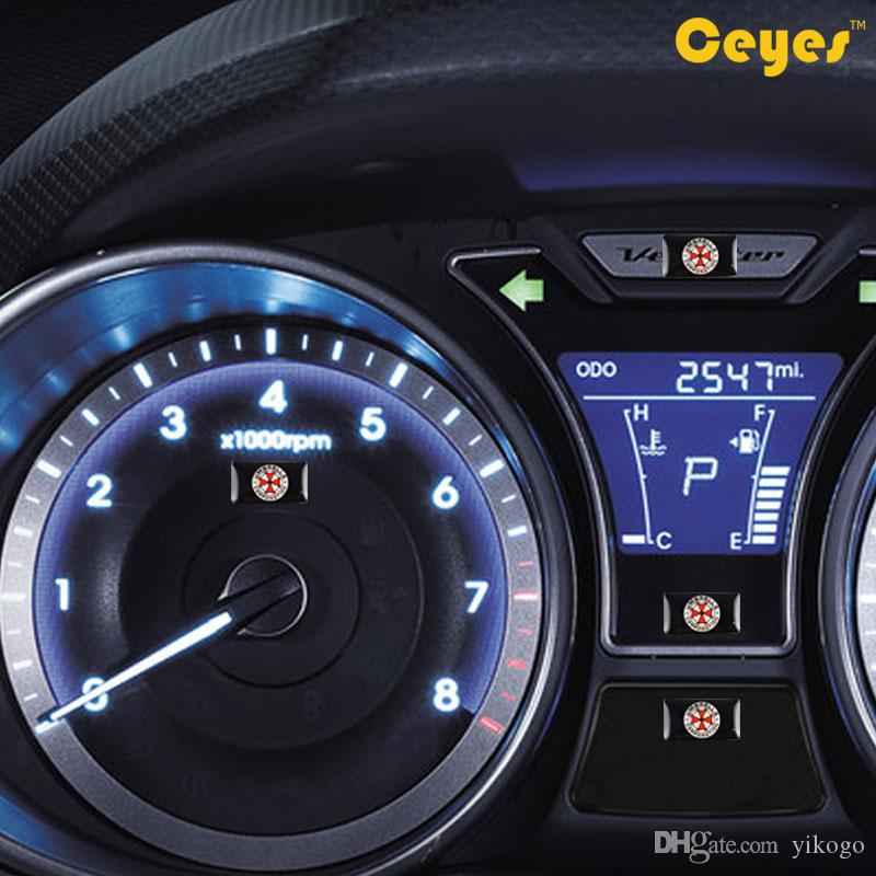 에폭시 자동차 로고 스티커 플라스틱 드롭 스티커 UMBRELLA CORPORATION 엠블럼 배지 로고 스티커 / 스타일링 자동차