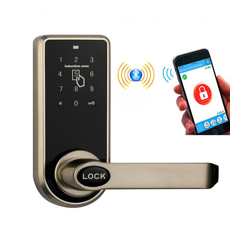 electronic front door lock2017 Bluetooth Smart Electronic Keyless Keypad Home Entry Door