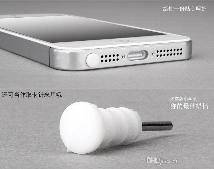 Wholesale - - for Iphone7 6 5 Silicone 8pin Dust Proof Plug Dock Cover + Earphone Jack Cap for iPhone 5 5G 5S