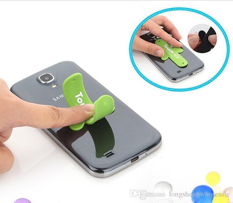 Universal Portable Touch U One Touch Silikon Stand Halter kann LOGO drucken Handy-Halterungen Für Smartphone Android-Handy