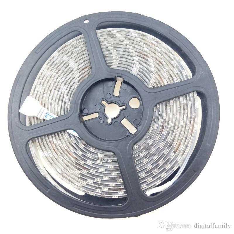 Sihirli Koşu LED Şerit 12 V 5050 RGB Kovalayan Lamba Şerit 54 leds / m için Açık Su Geçirmez IP65 Uzaktan bahçe Reklam