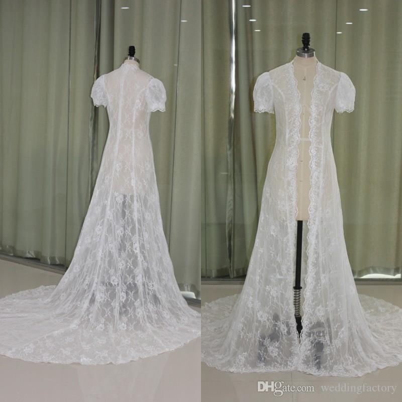 2019 Gorgeous 2017 Wedding Cape Real Picture Sheer Lace