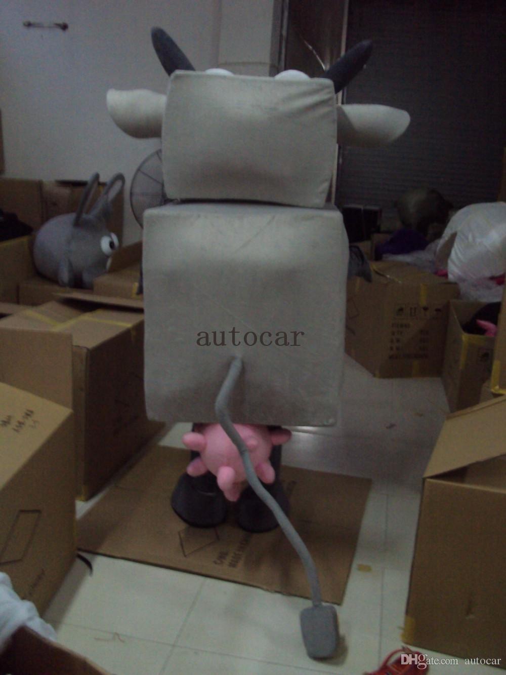 машина крупного рогатого скота костюм талисмана взрослых характер костюм талисмана как мода бесплатная доставка
