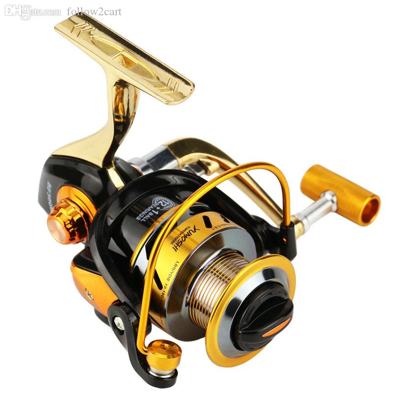 Aluminum Alloy Fishing Reels Spinning 1000-6000 Series 13BB Metal Wire Cup/Spool Saltwater Fishing Wheel 7000 Gear Ratio 5.5:1