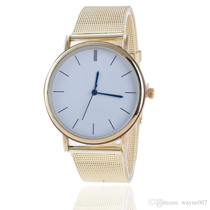 Free shipping wholesale Foreign trade sales speed sell hot style alloy Geneva watch ladies fashion color Circular mesh belt tab quartz watch