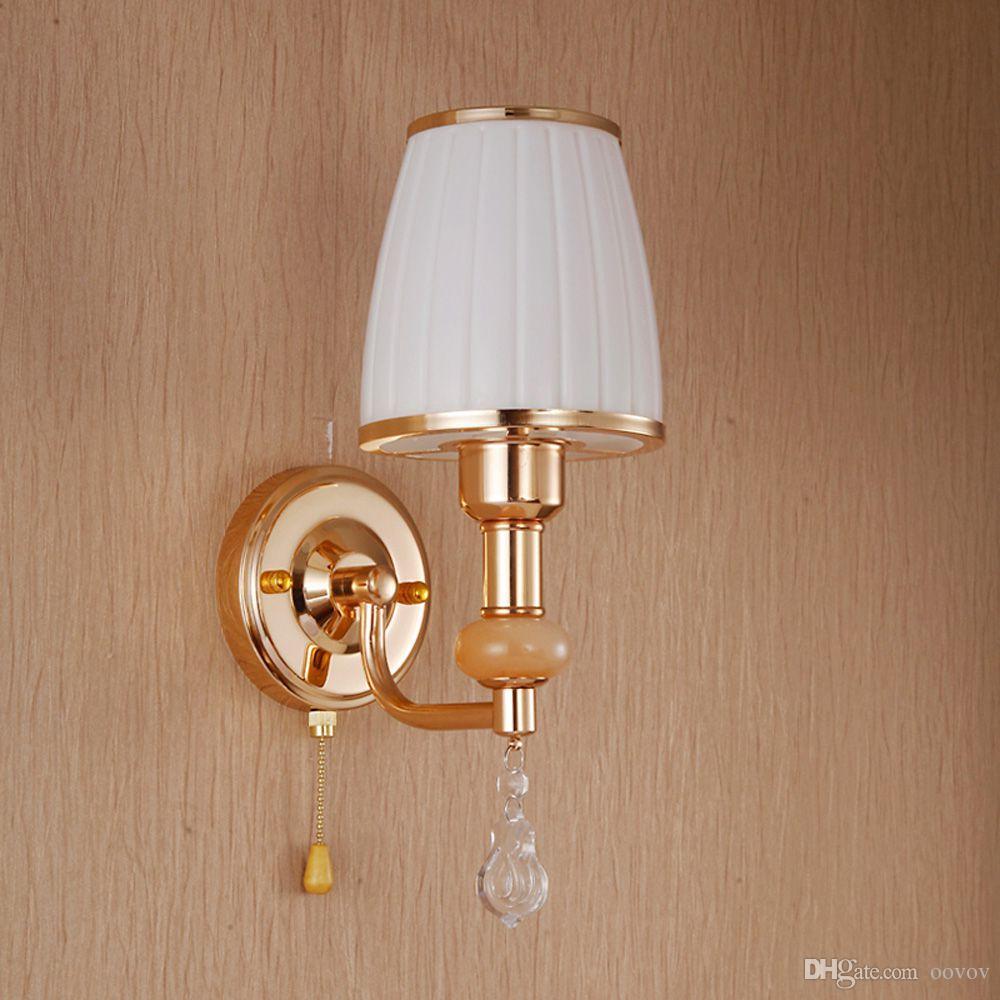 Moda Corredor De Vidro Varanda Parede Luzes Moderna Sala de estar Arandela Quarto Luminárias de Cristal Lâmpada de Parede
