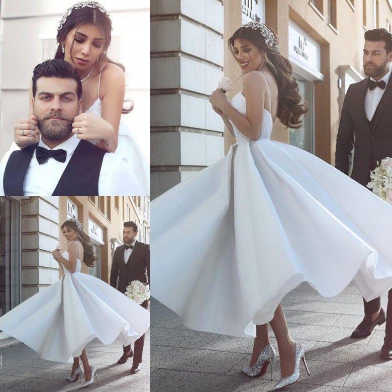 Discount Said Mhamad New 2017 Tea Length Wedding Dresses A Line ...