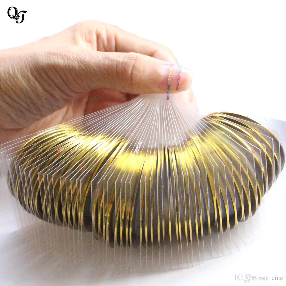 Новое золото 3D Nail Art Striping Tape Line Наклейка 1 мм Rolls наклейки для ногтей Nail Art Украшения Маникюрные аксессуары