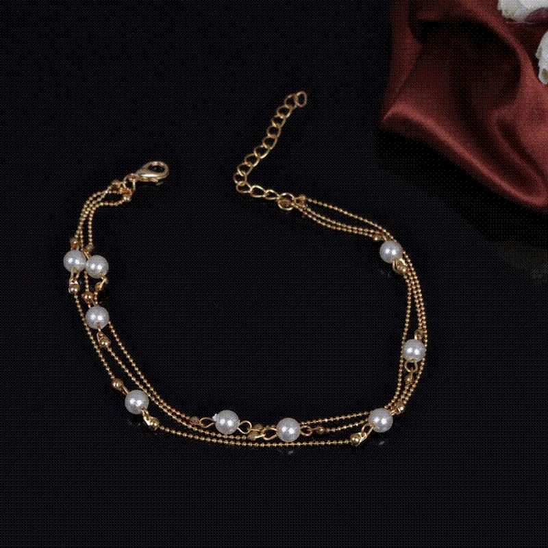 340aecb5e 2019 New Luxury Gold Plated Pearl Ankle Foot Bracelets For Leg Women Love  Butterfly Anklet Bracelet Chain On The Leg Jewelry A71 From No3shop