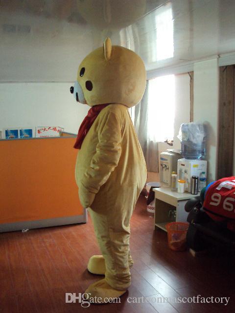 Ours brun nounours Mascotte Costumes Personnage de bande dessinée Adulte Sz 100% Vraie Image