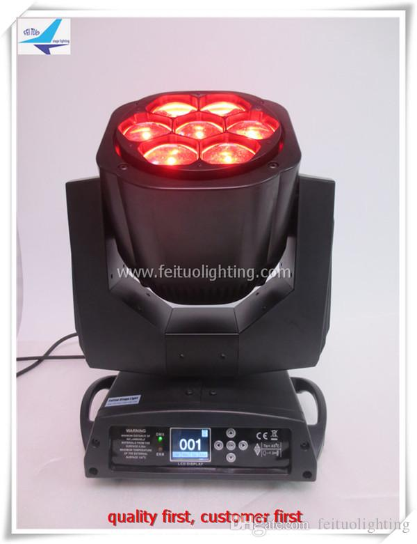 6Xlot Led zoom licht 4in1 rgbw led moving head licht bee auge 7x15 w moving head