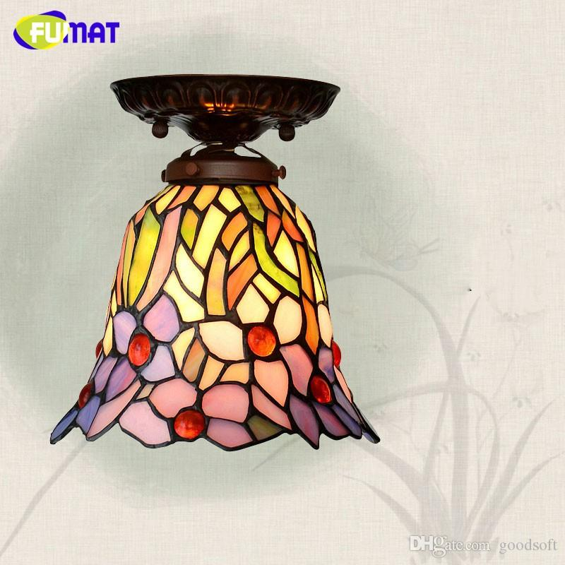 Tiffany European Style Ceiling Lamp Bar Corridor Stained Glass - Tiffany kitchen ceiling lights