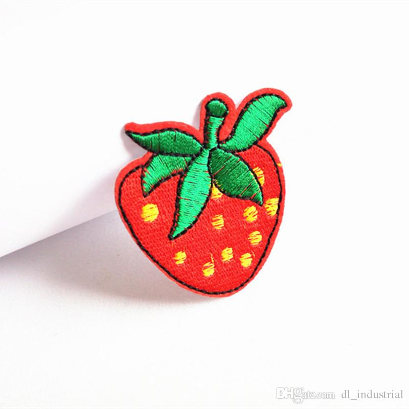 Embroidered cloth patch Fruit appliques Back gum Ironing stick sewing decorative patch Kids'T-Shirt skirt clothing accessories DL_CPIF009