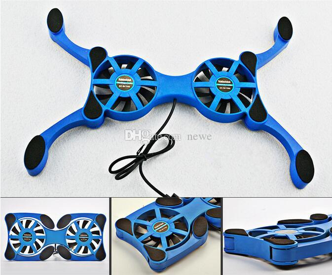New Foldbale USB Double Fans Cooling Fan Mini Octopus c Cooling Pad Quiet Stand For 7 to 14 inch Notebook Laptop PC