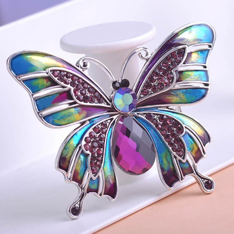 6d8b1bb95 Wholesale- Vintage Jewelry Large Enamel Esmaltes Butterfly Brooches ...