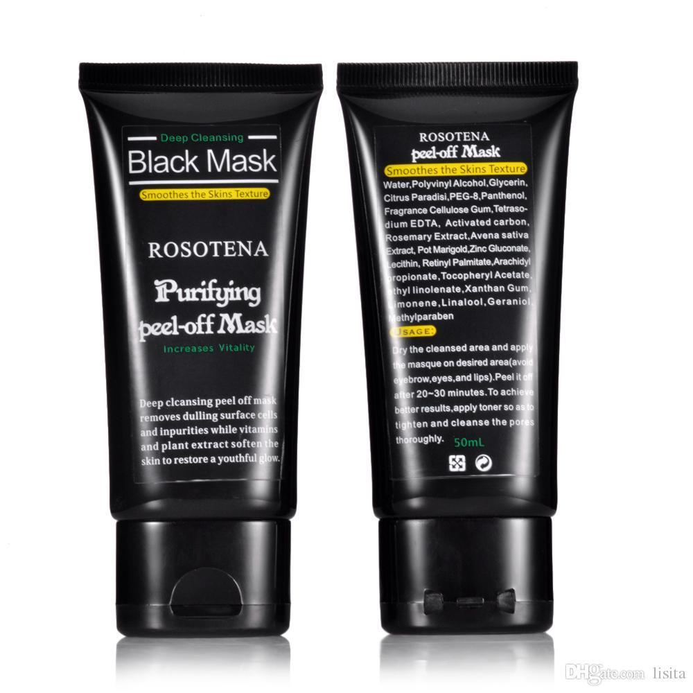 ROSOTENA Yüz Bakımı Derin Peel Off Siyah Kafa Çamur Siyah Maske Derin Temizlik Siyah Nokta Sivilce Remover Yüz Maskesi Siyah Noktalar Burun
