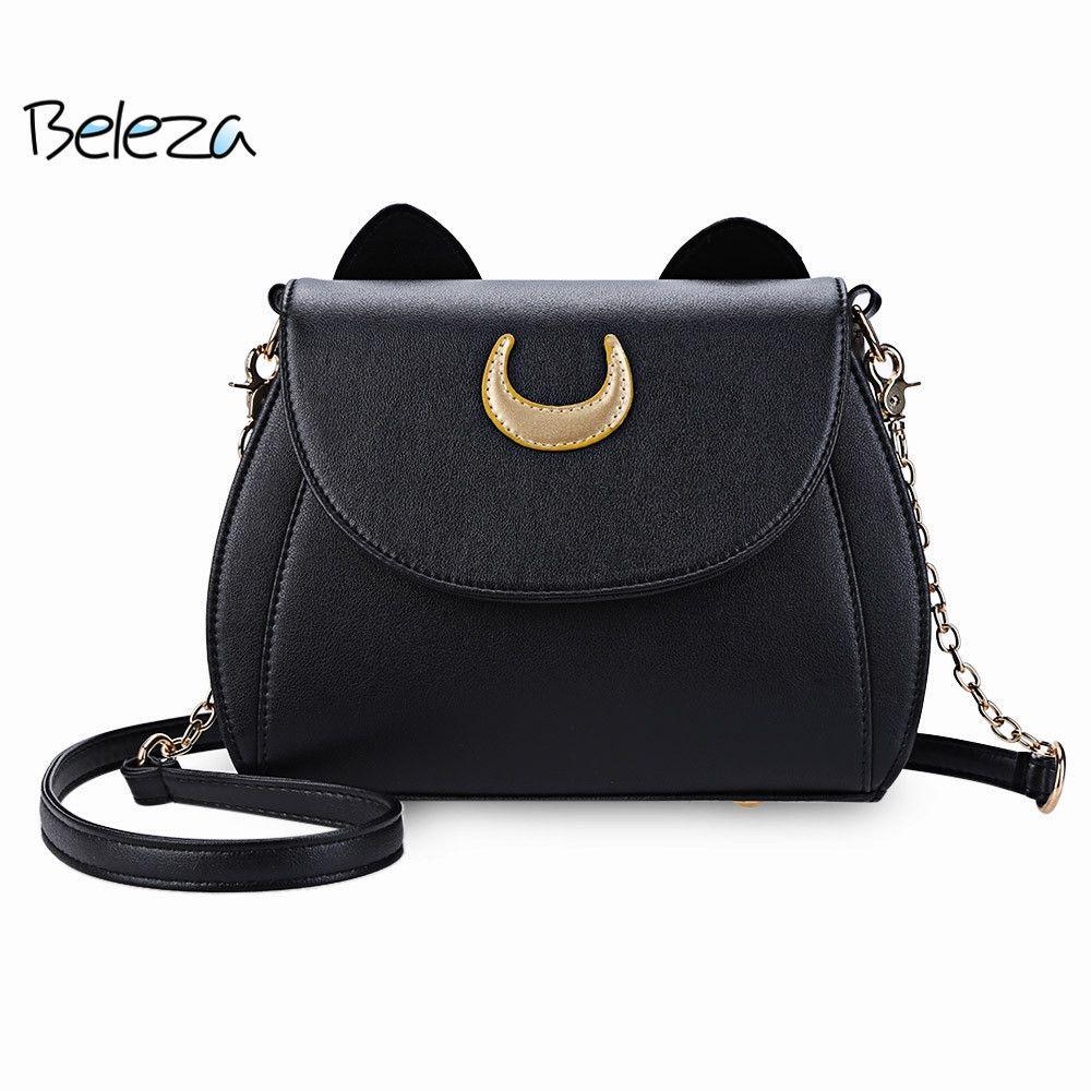 Guapabien New Cute Cat Ear Crossbody Bags Shape Crescent Detachable ... fb11fe3d37661