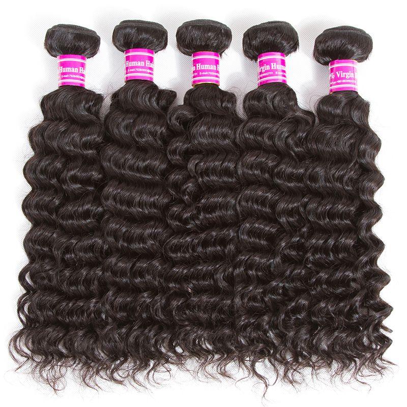 Brasilianische jungfristige menschliche haar bündel body wave tiefe welle kinky lockig billig remy menschliche haare städtisch unverarbeitete jungfräser haarbündel deals