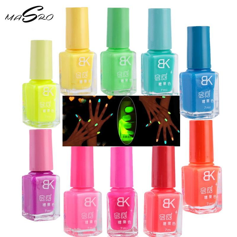 Wholesale Masro Makeup 20 Candy Colors Noctilucent Fluorescent Nail ...