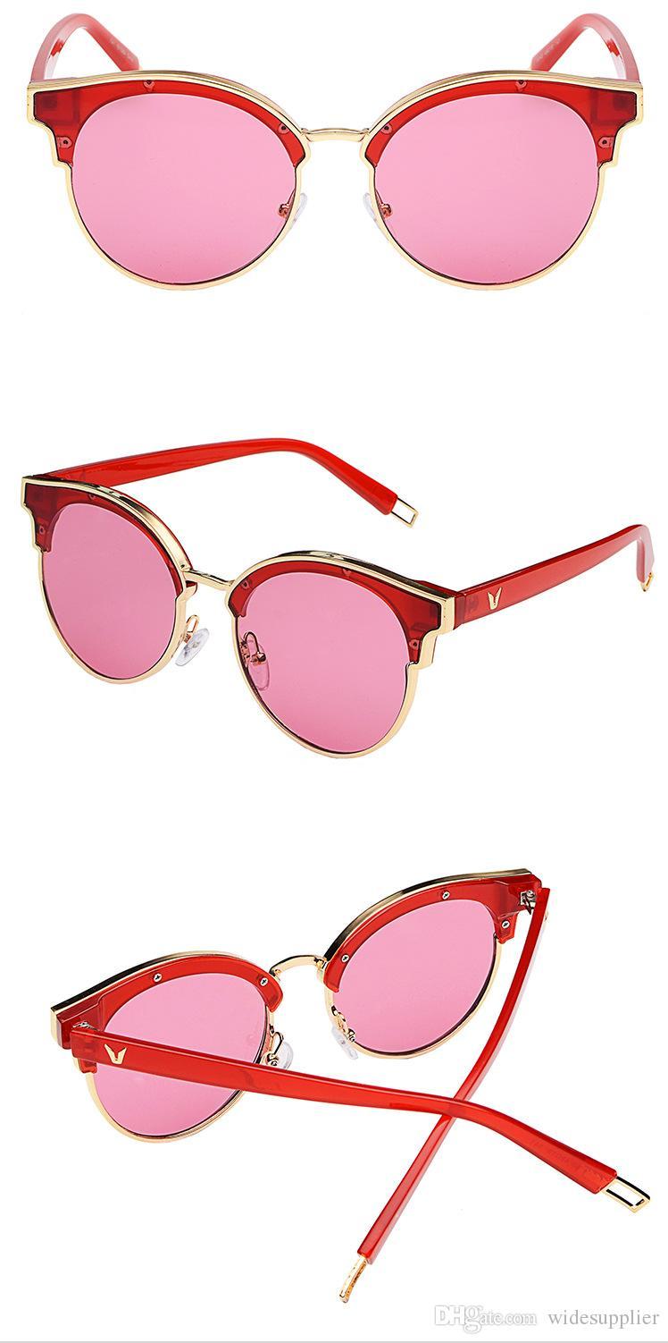 9045 V brand sunglasses South Korea big frame sun glasses star women sunglasses fashion wild shopping tide section glasses