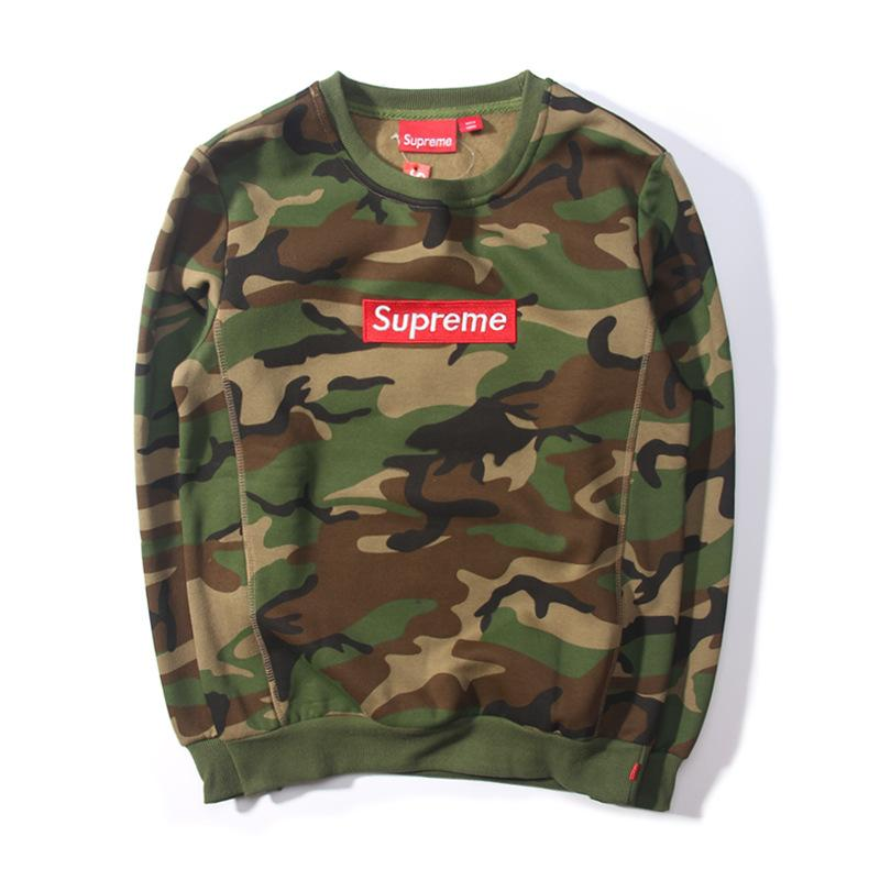 2017 Embroidered Supreme Camouflage Trainning Sweatshirt ...
