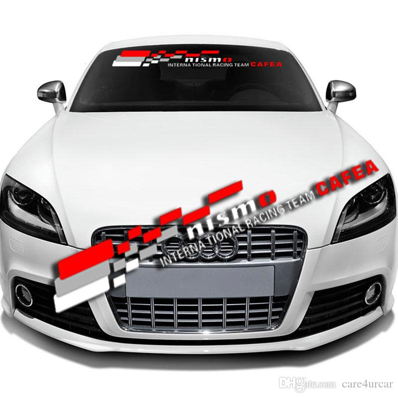 Online cheap reflective nismo 03 front rear windshield banner decal vinyl car stickers auto window exterior diy decorations clear background by care4urcar