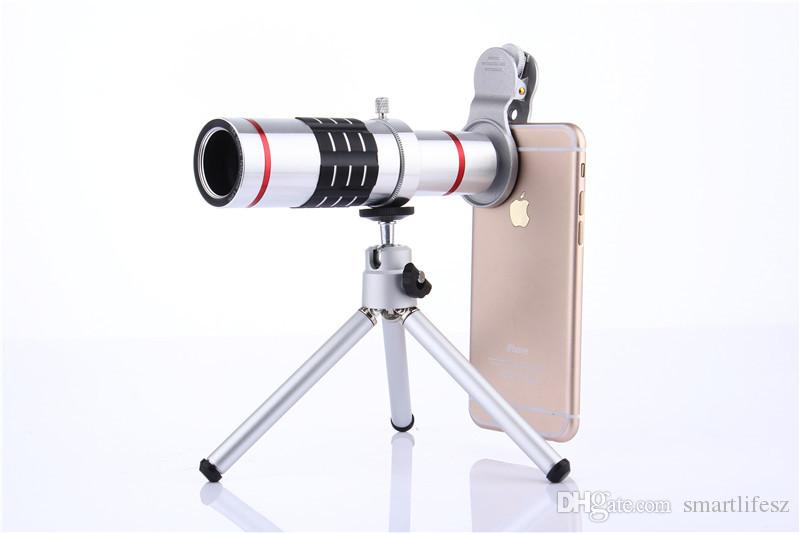 Best universal clip zoom telephoto lens with tripod telescope