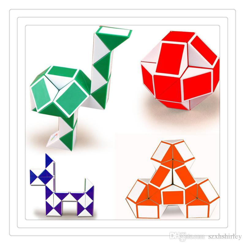 Mini Magic Cube 3D Snake Shape Toys Game Cube Puzzle Twist Puzzle Toys Games Random Intelligence Toys Supertop Plastic Puzzles
