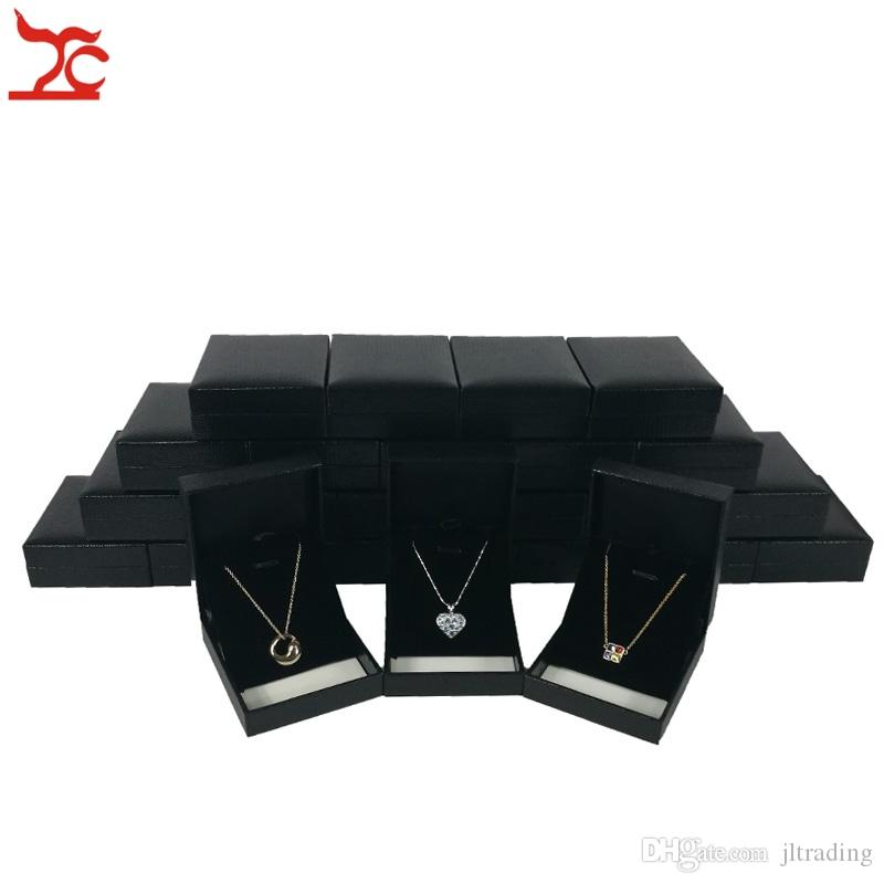 9bf5b41e6 2019 Elegant Jewelry Display Box Rectangle Black Pendant Earrings Organizer  Storage Case Necklace Display Gift Packaging Box 8*6.5*2.7cm From Jltrading,  ...