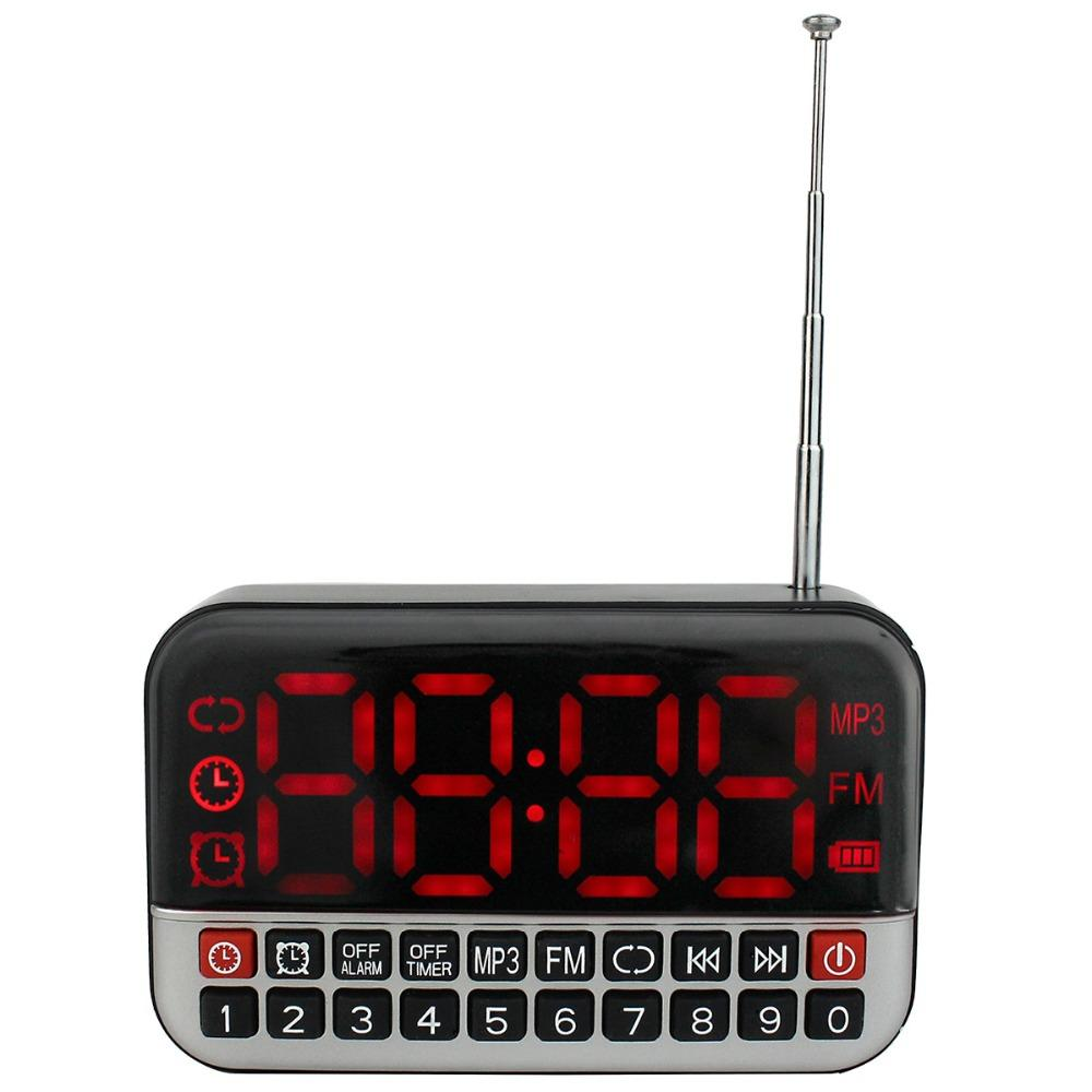 Best Super Digital Screen Fm Radio Receiver With Mp3 Player Usb For Battery Supply Speaker Pocket Portable Clock 18650 Y4172z Combinationalarm