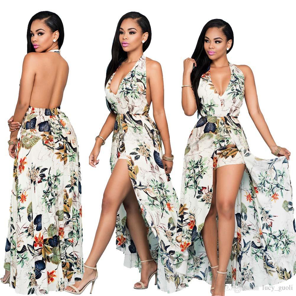 2016 Vestido de Verão Para As Mulheres Bohemian Estilo Mulheres Maxi Vestidos de Festa de Baile de Noite Chiffon Mulheres Roupas Vintage Longo Verão Vestido Plus Size