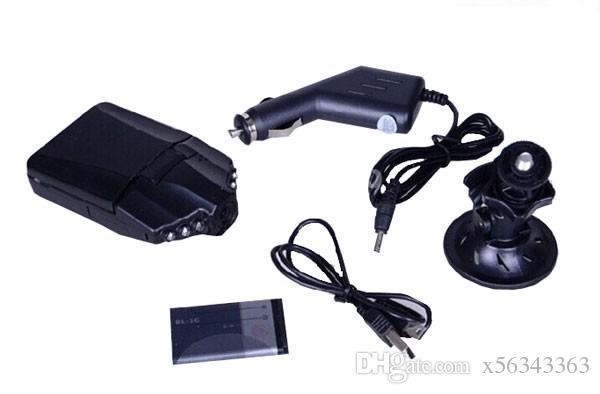 10 قطع مبيعا 2.5 '' سيارة داش كاميرا سيارة dvr مسجل كاميرا نظام الصندوق الأسود H198 ليلة النسخة فيديو مسجل داش كاميرا