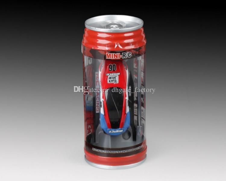 2018 free DHL Mini-Racer Remote Control Car Coke Can Mini RC Radio Remote Control Micro Racing 1:64 Car 8803 christmas gift